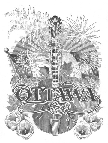 Pencil sketch of Ottawa music
