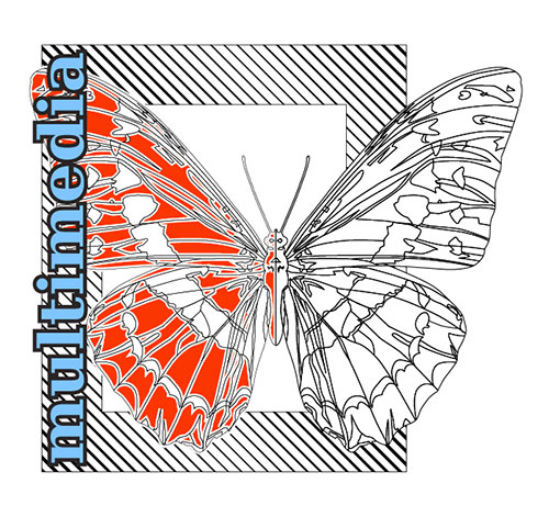 Vector Butterfly red