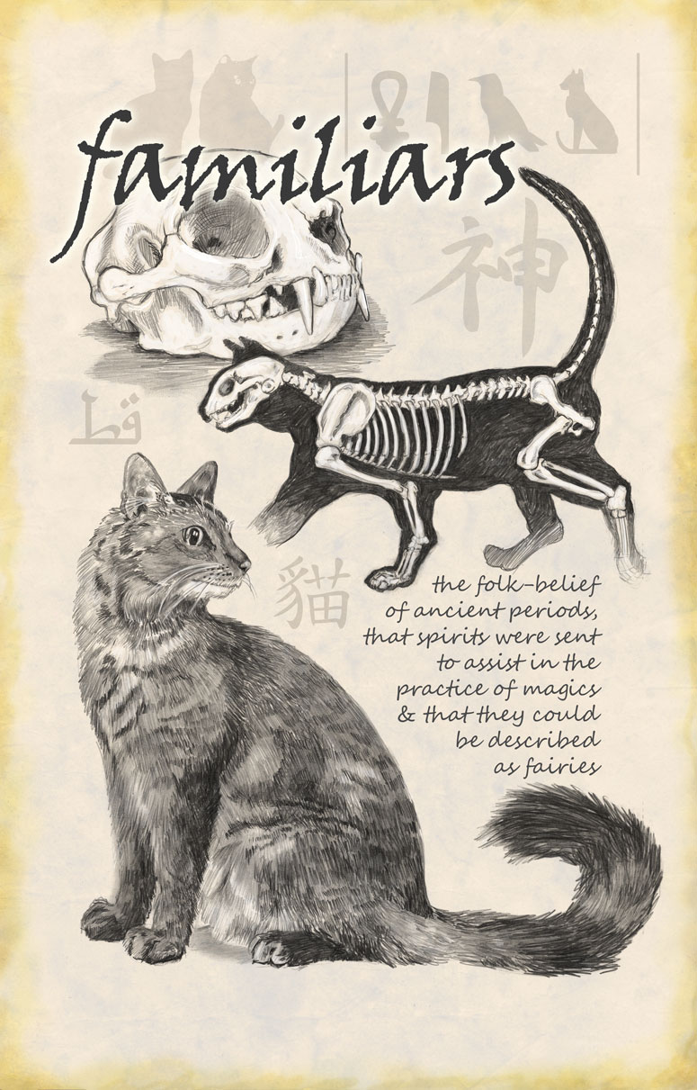 Familiars - the cat as spirit messenger - poster